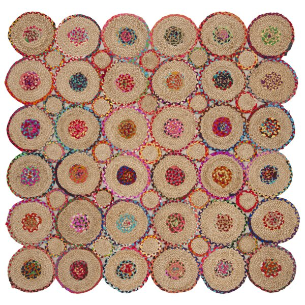 Ashlyn Hand Woven Red/Natural Area Rug by Bungalow Rose