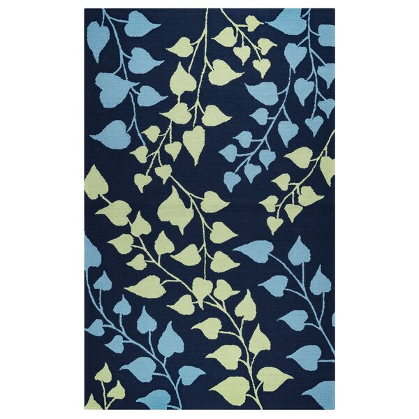 Carsdale Hand-Tufted Indigo Indoor/Outdoor Area Rug by Breakwater Bay