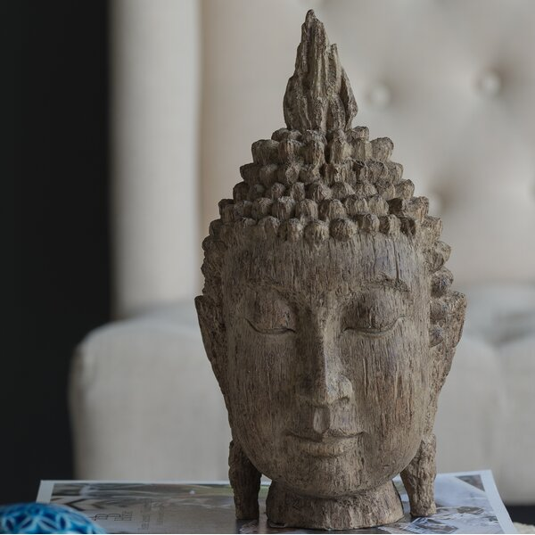 Fontainebleau Buddha Head Decor by World Menagerie