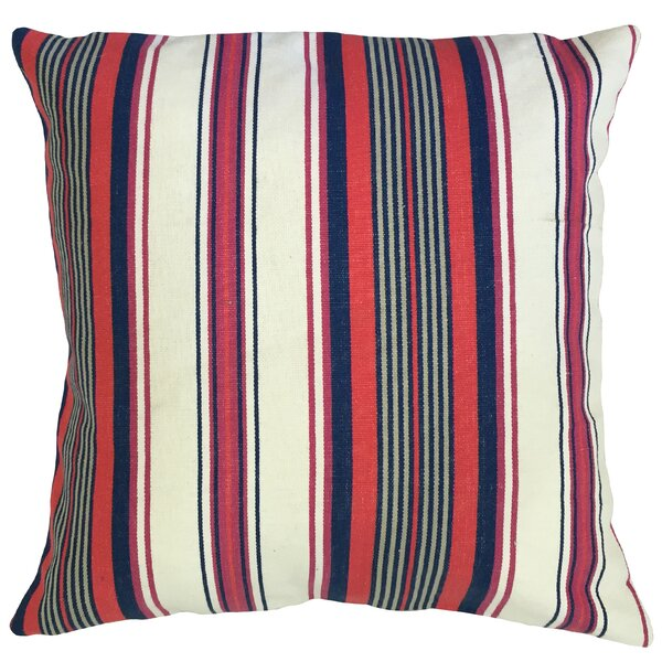 Randell Striped Floor Pillow by Longshore Tides
