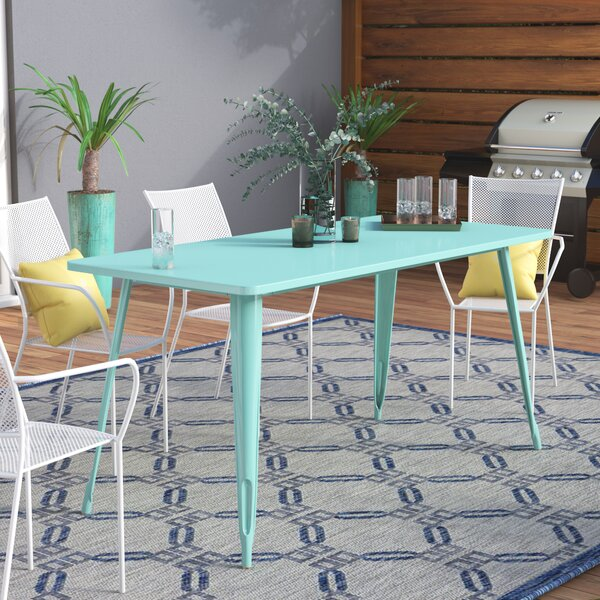 Eure Metal Dining Table by Ebern Designs