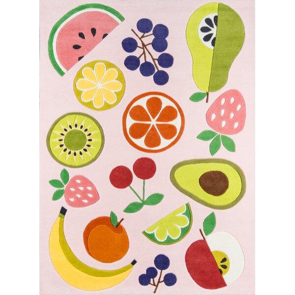 Vintage Fruit Hand-Tufted Pink Area Rug by Novogratz