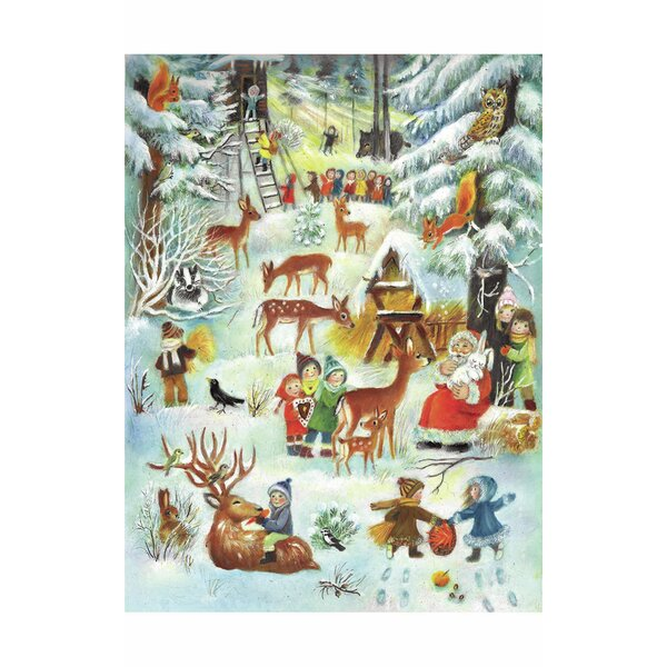 Sellmer Large Children Playing Advent Calendar by The Holiday Aisle