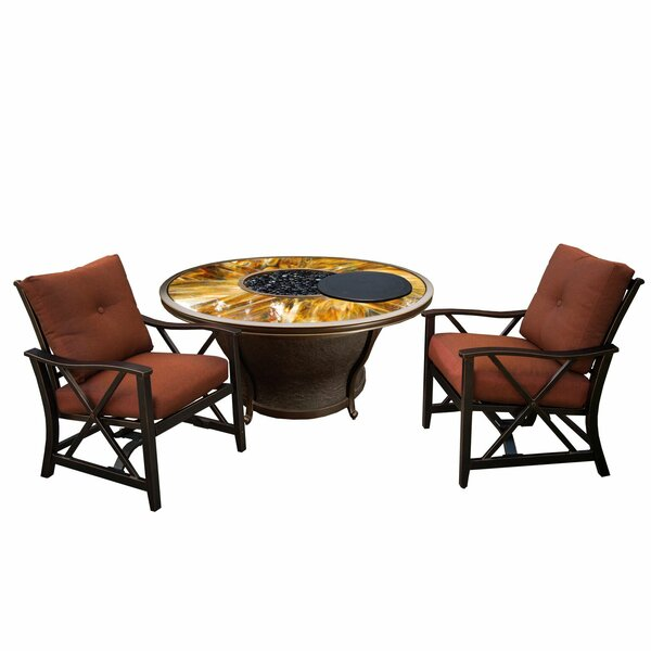 Paxtonville 3 Piece Conversation Set with Cushions by Darby Home Co Darby Home Co