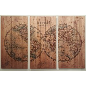 Cartography Arte De Legno Graphic Art by Empire Art Direct
