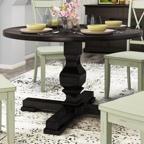 Bloomingdale Round Pedestal Dining Table by Gracie Oaks