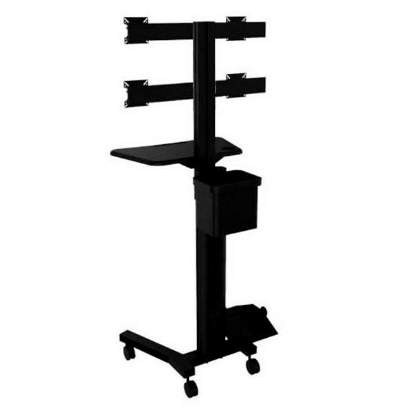 TygerClaw Mobile 4 TVs Floor Mount for Flat Panel Screens by Homevision Technology
