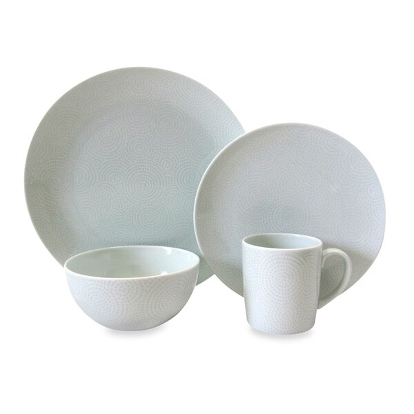 Edokomon 4 Piece Place Setting, Service for 1 by Nikko Ceramics