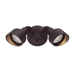 Find for Mckean LED 2-Light Outdoor Spotlight By Ebern Designs