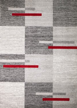 Grimes Gray/Red Wool Area Rug by Orren Ellis