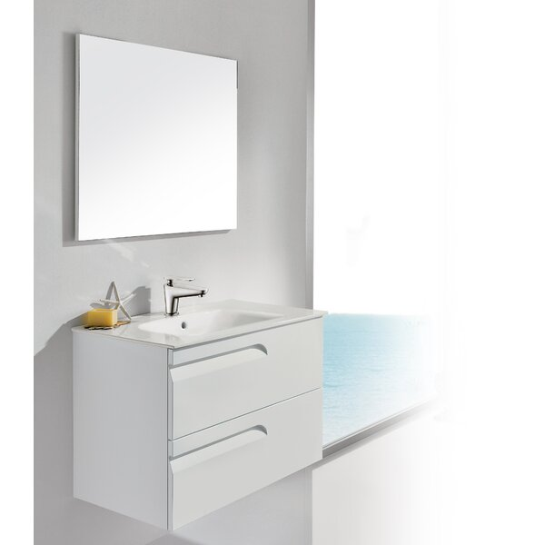 Vitale 32 Single Bathroom Vanity Set with Mirror by Dawn USA