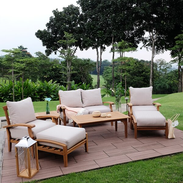 Summerton 7 Piece Teak Sofa Seating Group with Cushions (Set of 7) by Birch Lane™