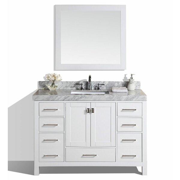 Laub 61 Single Modern Bathroom Vanity Set with Mirror by House of Hampton