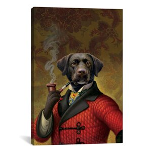 The Red Beret (Dog) by Dan Craig Painting Print on Wrapped Canvas by iCanvas