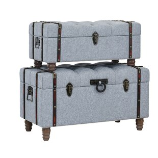 Keystone Tufted Linen 2 Piece Coffee Table Set With Storage Charlton Home  Wonderful
