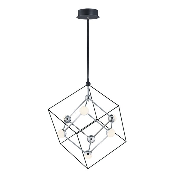 Roybal 7-Light LED Unique / Statement Rectangle / Square Chandelier By Wrought Studio