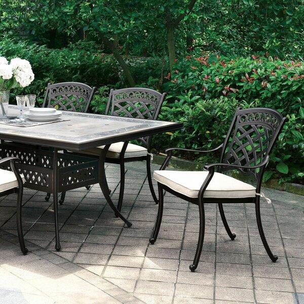 Vogt Stone/Concrete Dining Table by Fleur De Lis Living