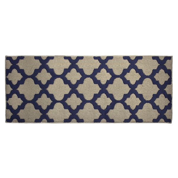 Alessandra Navy/Tan Area Rug by Jean Pierre