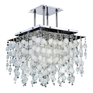 Capiz shell chandelier wayfair cityscape capiz shell 5 light crystal chandelier aloadofball Gallery