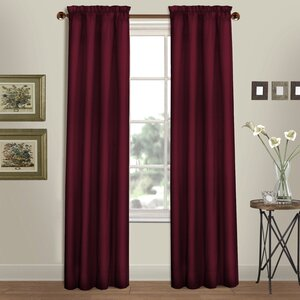 Westwood Solid Semi-Sheer Rod Pocket Curtain Panels (Set of 2)