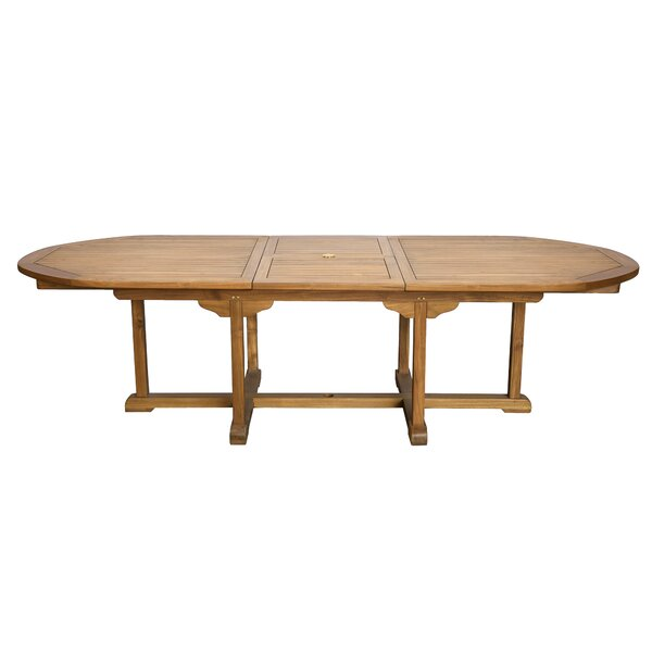 Alves  Extendable Solid Wood Dining Table by Canora Grey