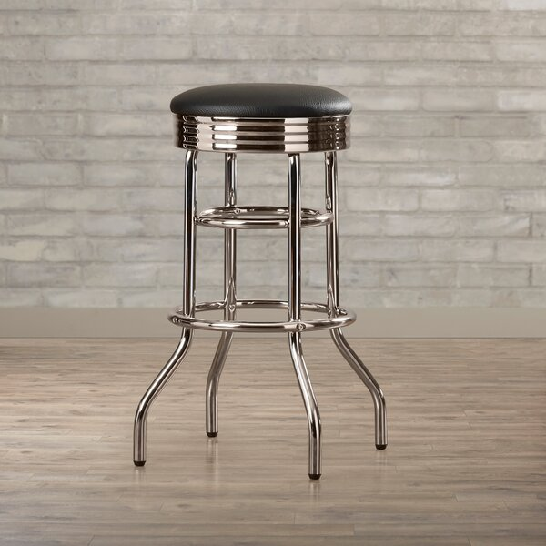 Mcguire 30 Swivel Bar Stool by Brayden Studio