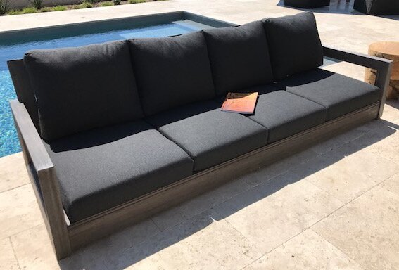 Superior Yandell Teak Outdoor Sofa With Cushions