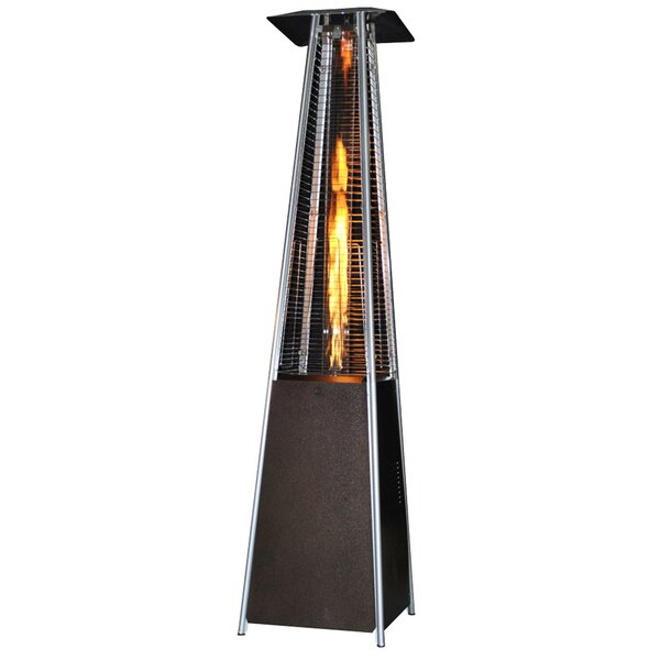 Contemporary Square Design Portable 40,000 BTU Propane Patio Heater by SUNHEAT International