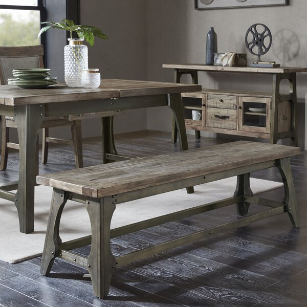 Casimir Wood Bench by Gracie Oaks