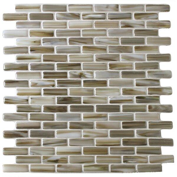 Kiln Powder 1 x 2 Glass Mosaic Tile in Brown by Tile Focus