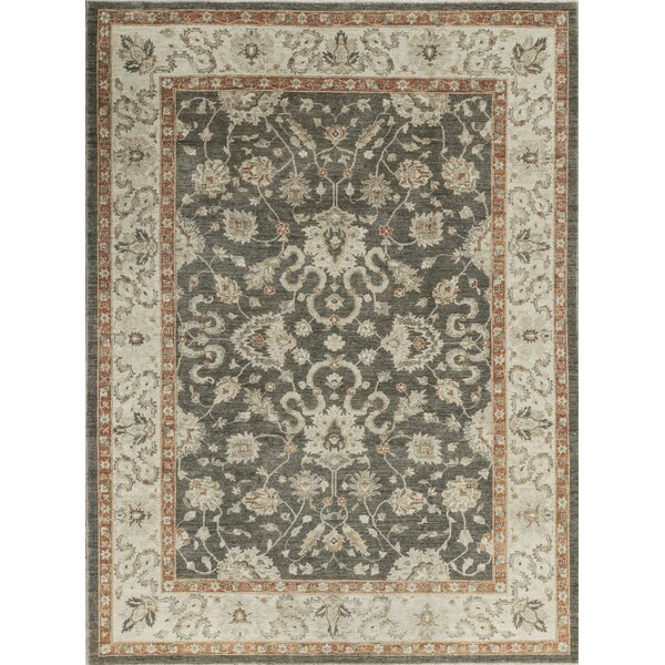One-of-a-Kind Ziegler Hand-Knotted Wool Gray/Ivory Indoor Area Rug by Bokara Rug Co., Inc.