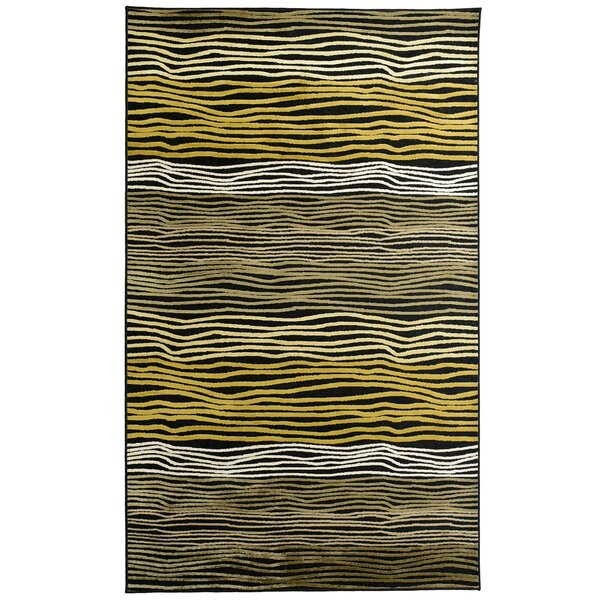 Ricardo Black/Yellow Rug by Rug Studio