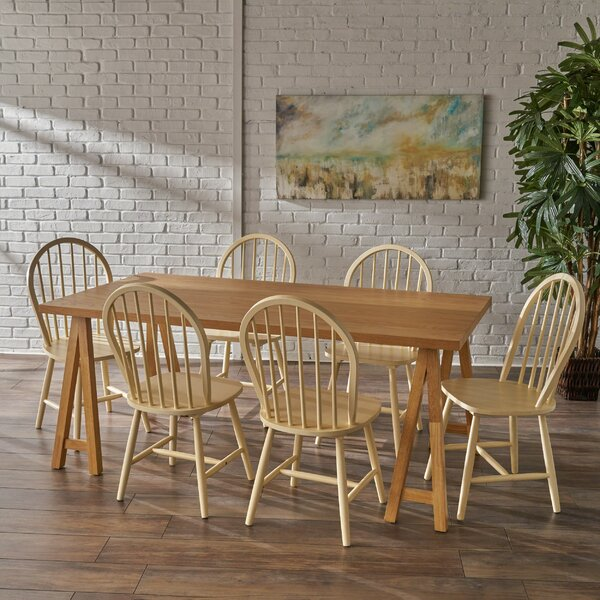 Sims 7 Piece Dining Set by August Grove