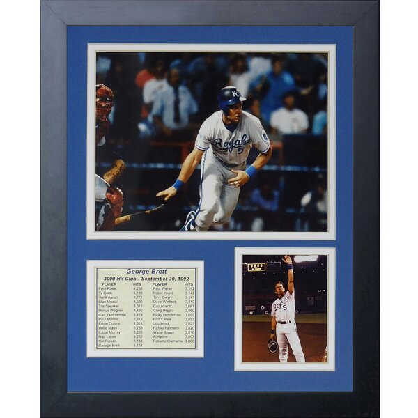 George Brett Framed Photographic Print by Legends Never Die