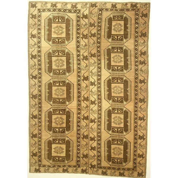 One-of-a-Kind Cordelia Hand-Knotted Wool Cream Area Rug by Isabelline