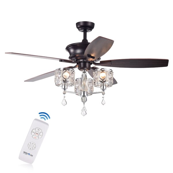 Wester 52 5 Blade LED Ceiling Fan with Remote by House of Hampton