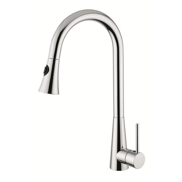 Surface Mount Kitchen Faucet With Pull Out Handset   by Andolini Home & Design