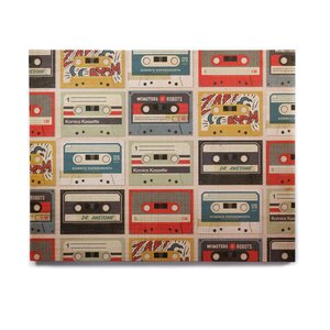 'Retro Tape' Graphic Art Print on Wood by East Urban Home