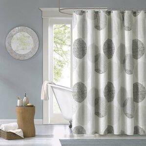 shower curtain for gray bathroom. Burgess Microfiber Shower Curtain Gray  Silver Curtains You ll Love Wayfair