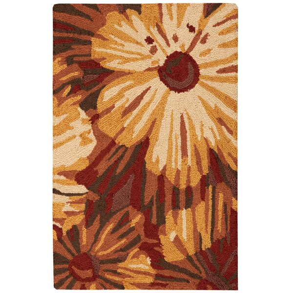 Lupe Hand-Woven Brown Area Rug by Winston Porter