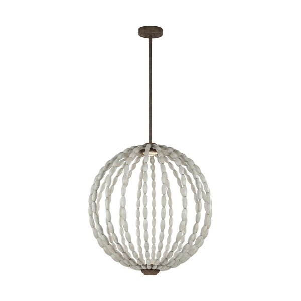 Jenkinsburg 2-Light Unique / Statement Globe Chandelier by Bungalow Rose Bungalow Rose