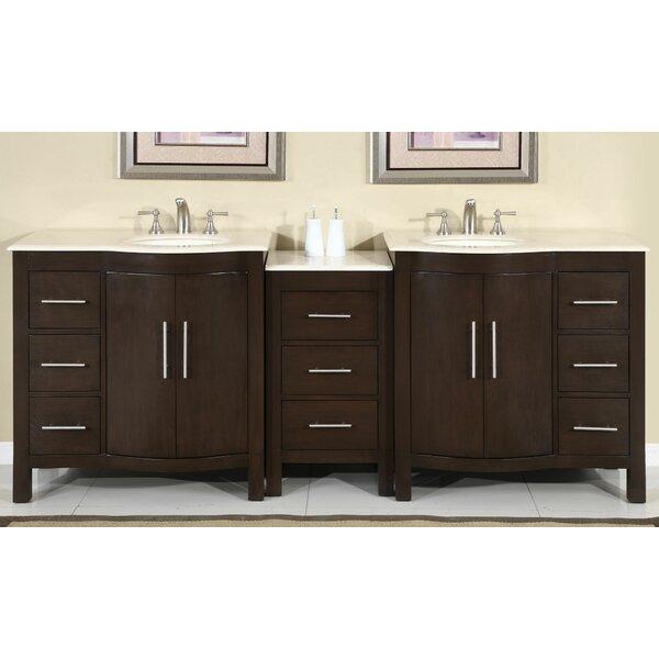 Santo 89 Double Bathroom Vanity Set