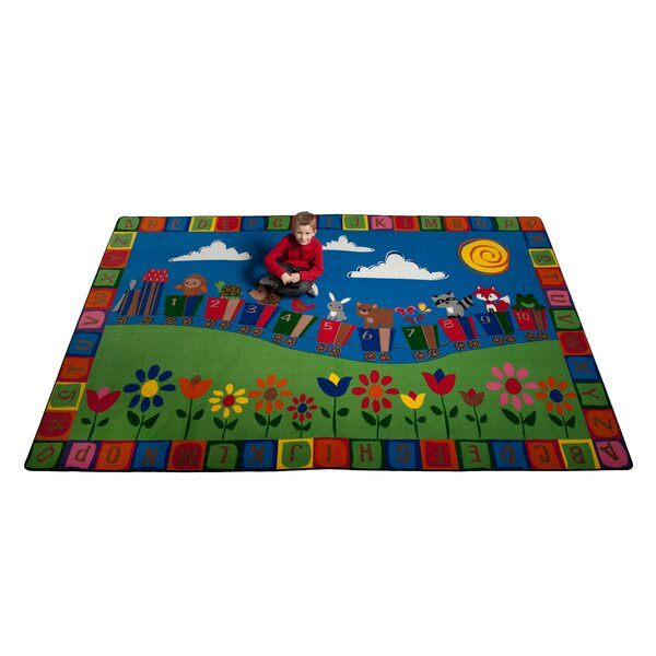 On the Train Area Rug by Kid Carpet