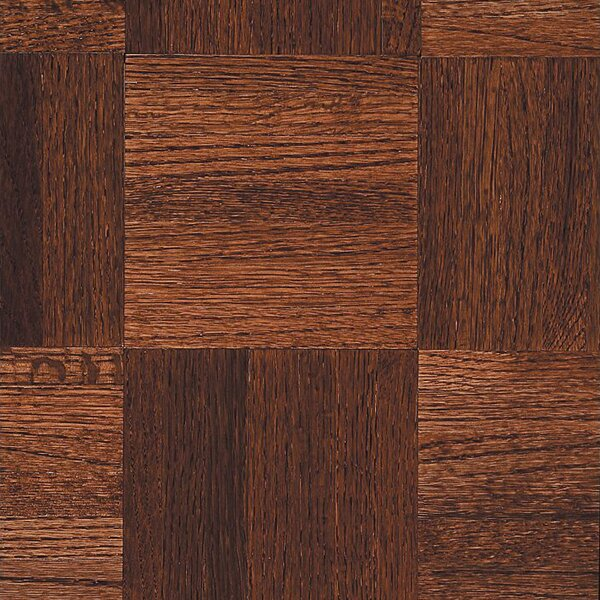 Urethane Parquet 12 Solid Oak Parquet Hardwood Flooring in High Glossy Cinnabar by Armstrong Flooring