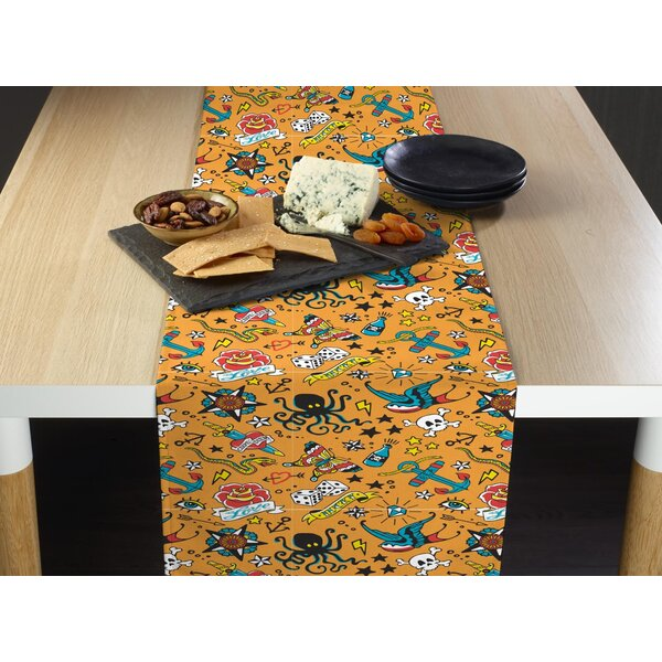 Mccoll Tattoo Art Table Runner by Latitude Run