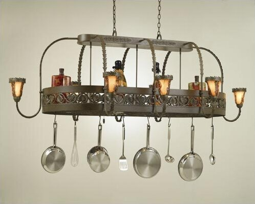 Leaf Chandelier Pot Rack by Hi-Lite