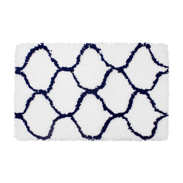 Alfred Chunky Shag Indigo/White Area Rug by Vista Living