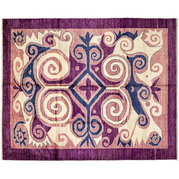 One-of-a-Kind Kaitag Hand-Knotted Purple Area Rug by Darya Rugs