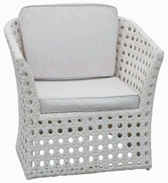Sheffield Wicker Deep Seating Chair with Cushion by Rosecliff Heights