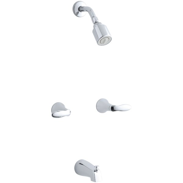 Coralais Bath/Shower Trim Set with Lever Handles and Slip-Fit Spout, Valve Not Included by Kohler